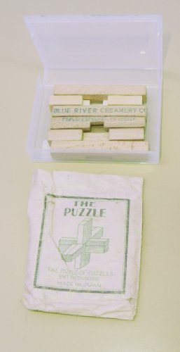 Blue River Creamery Hastings, Nebr - Wooden Cross Puzzle