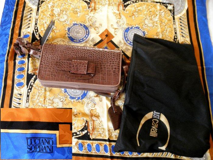 Roberto Cavalli handbag and Luciano Soprani scarf