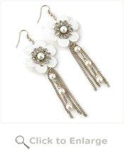 White Magnolia Earrings