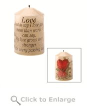 Poetic Love Candle