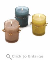 Midnight Orchid Votive Candle Trio