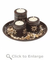 Mahogany Magnificence Tealight Set