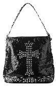 Stones and Studded Bag w/Cross and Studded Strap -