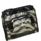 """Alba"" - Faux Aligator Skin / Animal Print Pearlized Glitter Strappy Handbag"