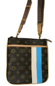 Donna di Bella - Letter Patten Evening Bags with Front Stripe