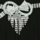 Rhinestone Belt with Bow Design Buckle