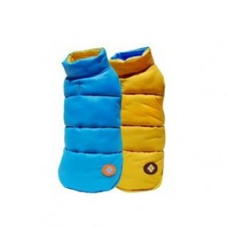 Argyle Ski Vest - Yellow/Blue