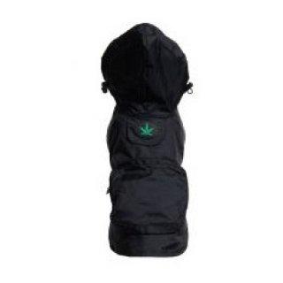 Black Leaf Raincoat