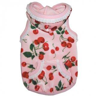 Cherry Ruffle Velour Hoodie