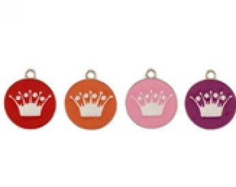 Enamel Crown ID Tag