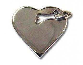 Heart Bone Dog Tag