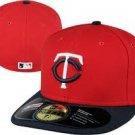 Minnesota Twins NEW ERA 59Fifty Flat Bill Hat size  6 3/4
