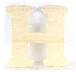 Wood Letter - H