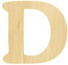 Wood Letter - D