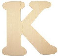 Wood Letter - K