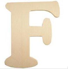 Wood Letter - F
