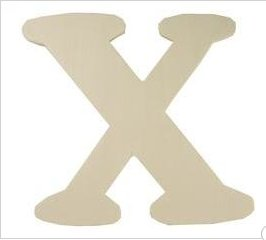 Wood Letter - X