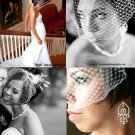 "Birdcage veil in 12"" available in ivory or white"