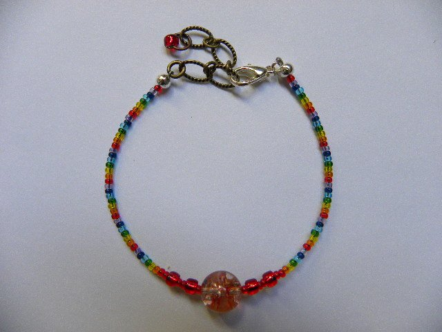 Red orb root/grounding energy chakra bracelet