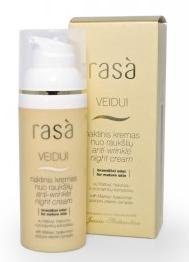 """Rasa"" Anti-wrinkle Night Cream,with Matrixyl, hyaluronic acid and pro-vitamin complex"