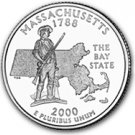 2000 Massachusetts State Quarter P & D Set