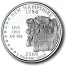 2000 New Hampshire State Quarter P & D Set