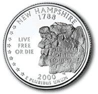 2000 New Hampshire State Quarter P & D Set