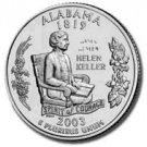 2003 Alabama State Quarter P & D Set