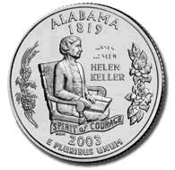 2003 Alabama State Quarter P & D Set
