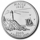 2003 Maine State Quarter P & D Set