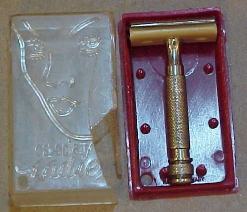 "Vintage EXTREMELY RARE Ladies ""PUBIC"" Safety Razor"