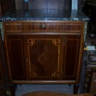 Louis XVI Cabinet with Black Marble Top