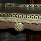 Antique Gueridon with Hand Painted Top and Bronze Gallery