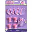 Plastic Toy Tea Sets, 14 pc