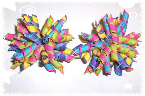 Rainbow Lollipop Boutique Korker Hairbow Hair Bow SET 2