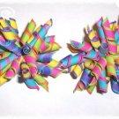 Rainbow Lollipop Boutique Korker Hairbow Hair Bow SET 2