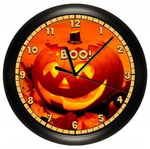 Halloween Pumpkin Wall Clock Fall Decor