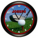 Personalized Golf Wall Clock Golf Club