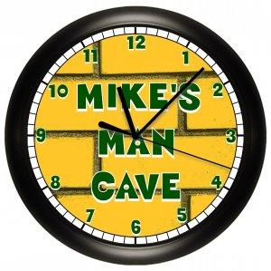 GREEN BAY PACKERS MAN CAVE WALL CLOCK