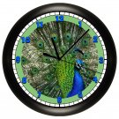 Peacock Wall Clock Zoo Art Decor
