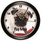 Personalized Pug Mug Wall Clock Pet Vet Wall Art Decor