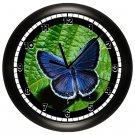 Blue Butterfly Wall Clock
