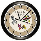 PERSONALIZED SCRAPBOOK AND CRAFT ROOM WALL CLOCK