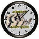 Personalized Workshop Garage Wall Clock Mechanic