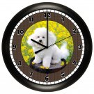 Bichon Frise Wall Clock Puppy Dog