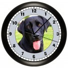 Personalized Black Labrador Retriever Wall Clock Lab Puppy Dog