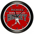 Personalized Hockey Wall Clock Sports Puck Team