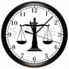 PERSONALIZED SCALES OF JUSTICE LAW FIRM WALL CLOCK