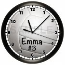 Personalized VOLLEYBALL Wall Clock Bedroom Wall Art SPORTS TEAM