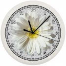 WHITE DAISY WALL CLOCK ROSE FLOWER GARDEN GIRL'S PINK DECOR